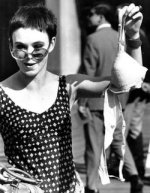 Somehow bra burning became a symbol of the fight against men's repression of women, but men never forced women to wear bras. In fact, men would like it if we didn't